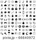 白黒アイコン100個セット 66640972