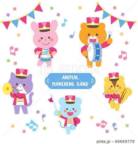 動物のマーチングバンド キャラクターセット 66669779