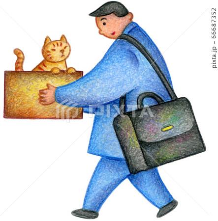 サラリーマンと捨て猫 66687352