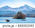 桧原の桜島と磐梯山 66692093