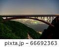 磐梯吾妻スカイラインつばくろ谷不動沢橋から福島市内の夜景を望む 66692363