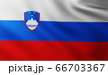 Large Flag of Slovenia fullscreen background in the wind 66703367