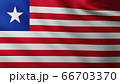 Large Flag of Liberia fullscreen background in the wind 66703370