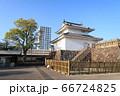 甲府市、舞鶴城公園の稲荷櫓とタワーマンション 66724825