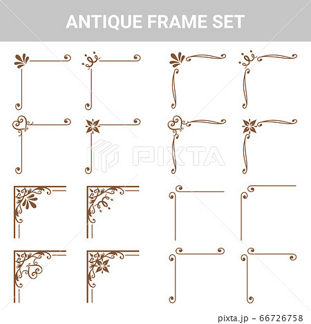 装飾素材 アンティーク フレームセット 66726758