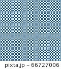 藍色と白の細やかな格子柄のバランスを崩し歪みを帯びたシームレスな錯視柄 66727006