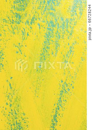 青色と黄色のペンキが塗られた板の模様 66728244