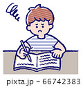 勉強中の男の子 66742383