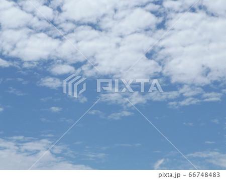 千葉公園から見た青い空と白い雲 66748483