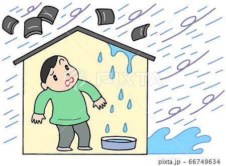 台風による家屋の被害 66749634