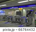 京阪電車 河内森駅の改札口 66764432
