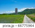 上山市 スカイタワー シンボル 高層ビル 田舎 66775964