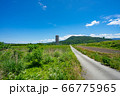 上山市 スカイタワー シンボル 高層ビル 田舎 66775965