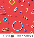 Neon seamless pattern with and 80s or 90s abstract arcade style 66778654