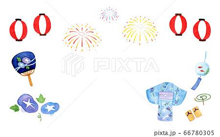 手描き水彩|夏祭り イラスト 66780305