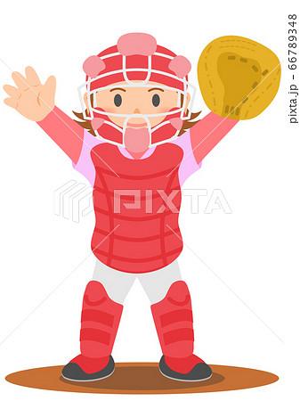 野球 キャッチャー 女子 66789348