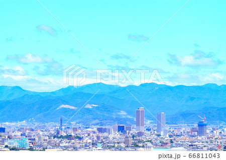 岐阜駅前、高層ビル群とその周辺の風景 66811043