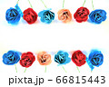 ペーパークラフトの花フレーム 66815443