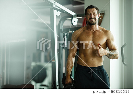 Fitness in gym, sport and healthy lifestyleの写真素材 [66819518] - PIXTA