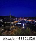 尾道 天寧寺三重塔 夜景 トワイライト 66821629