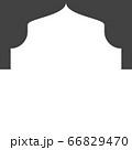 Mosque window vector icon 66829470