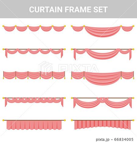 装飾素材 カーテン フレームセット 66834005