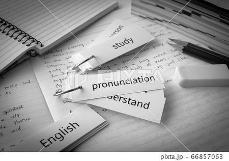 単語カードで英単語の暗記 英語の勉強 66857063