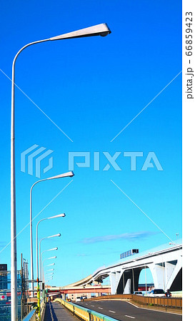 扇大橋(東京都道58号台東川口線の橋)と街灯の風景 66859423
