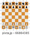 chess checker board with chess pieces. 66864385