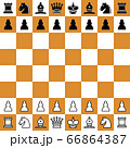 chess checker board with chess pieces. 66864387