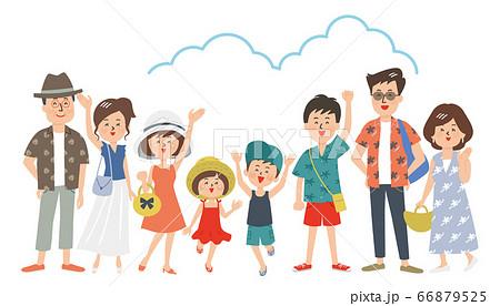 夏服の大家族 66879525