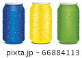 dark blue, yellow and light green juice can with many juice drops	 66884113