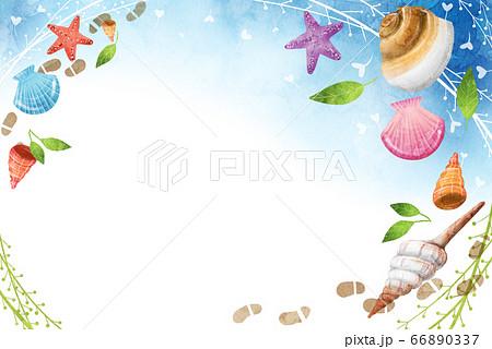 夏の爽やかな海のテクスチ 66890337