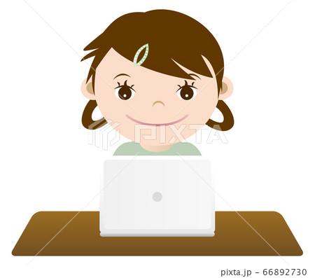 勉強する女の子 イラスト 66892730