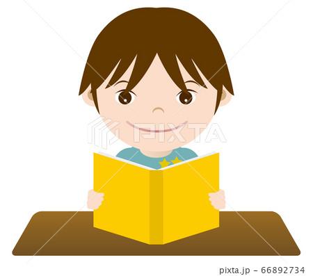 勉強する男の子 イラスト 66892734