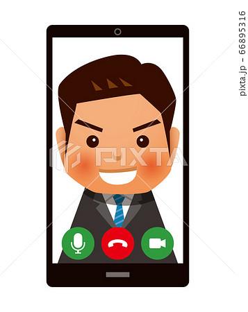 スマホでWEB面接・ビデオ通話イメージ 66895316