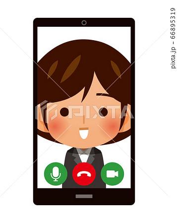 スマホでWEB面接・ビデオ通話イメージ 66895319
