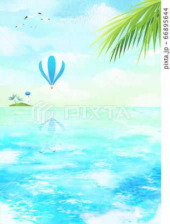 夏のビーチ 66895644