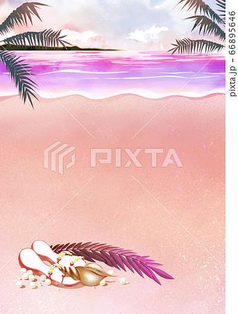 夏のビーチ 66895646