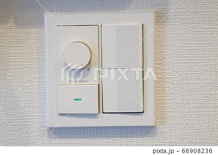 照明のスイッチパネル_調光器付きのパネル 66908236