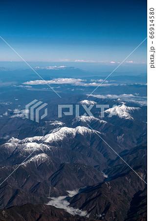 【空撮】南アルプス・中央アルプス・北アルプス 縦位置 66914580