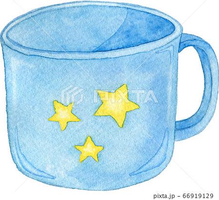水色の星柄のコップ 66919129