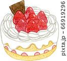 苺のデコレーションケーキ 66919296