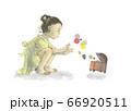 宝箱を開ける女の子 66920511