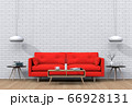 Living room interior in modern style, 3d render with sofa and decorations. 66928131