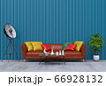 Living room interior in modern style, 3d render with sofa and decorations. 66928132
