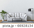 Living room interior in modern style, 3d render with sofa and decorations. 66928134