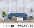 Living room interior in modern style, 3d render with sofa and decorations. 66928135