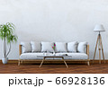 Living room interior in modern style, 3d render with sofa and decorations. 66928136