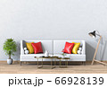 Living room interior in modern style, 3d render with sofa and decorations. 66928139